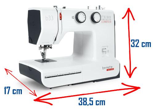 Wymiary maszyny BERNINA bernette B33