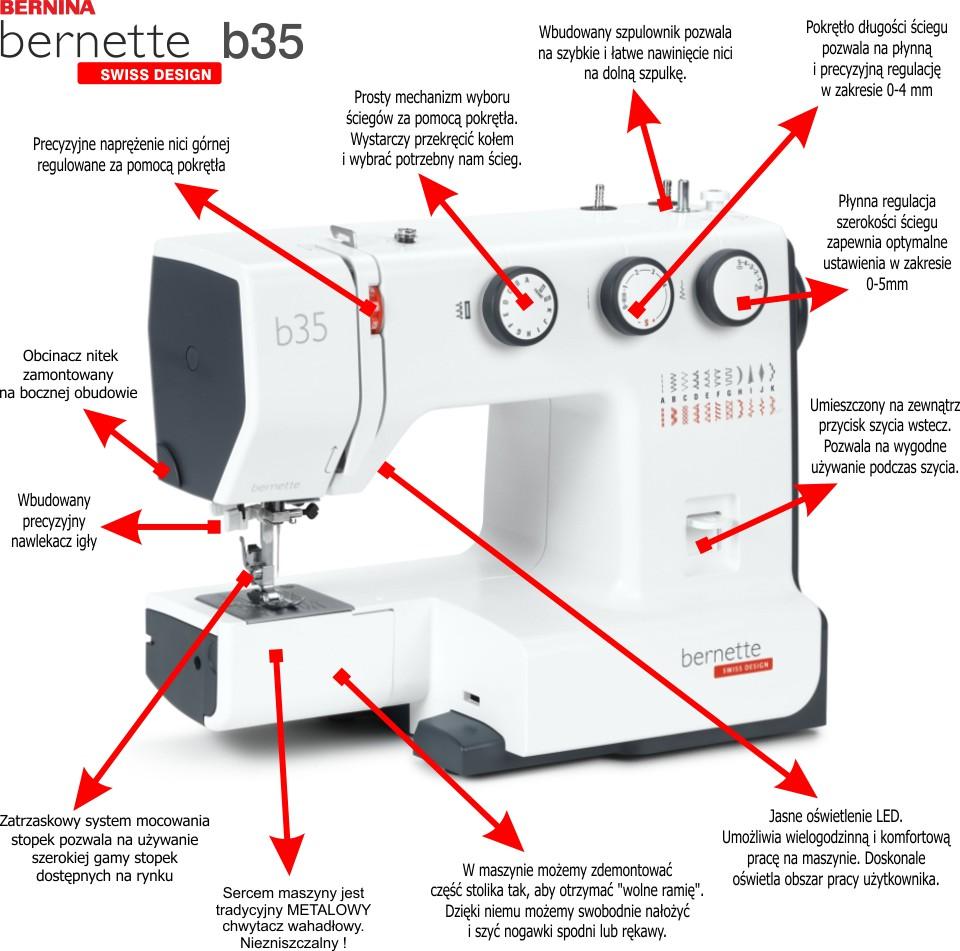 BERNINA bernette B35 - Solidna domowa maszyna do szycia