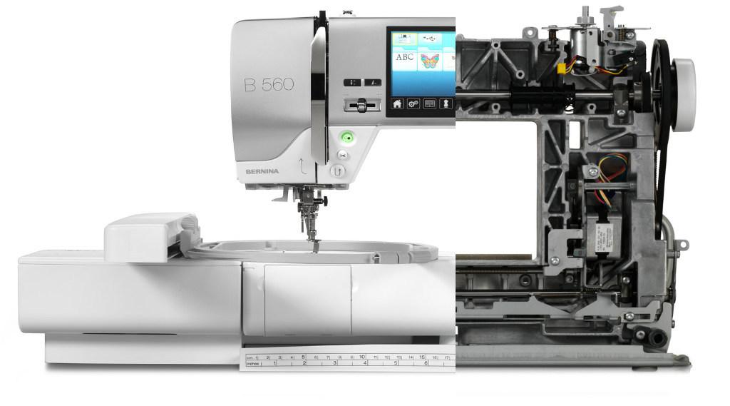 BERNINA B560 - Metalowe podzespoły