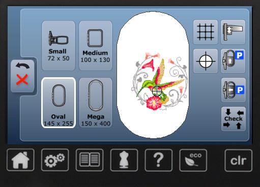 BERNINA B560 - Sterowanie poprzez ekran dotykowy