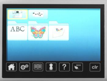 BERNINA 560 - Sterowanie poprzez dotykowy, kolorowy ekran