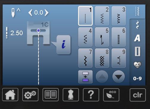 Ekran sterowania szyciem - B560