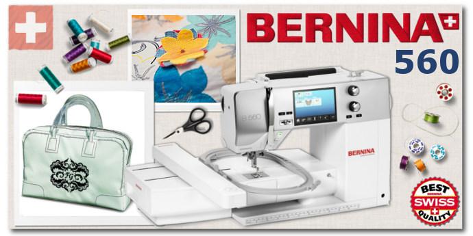 BERNINA 560 - Hafciarka dla firm, produkcji, usług, rzemiosła