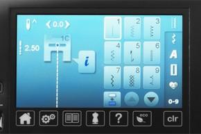Dotykowy kolorowy ekran - BERNINA 570