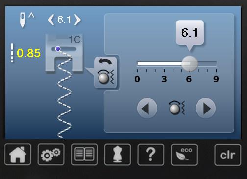 Ekran szycia - BERNINA 570