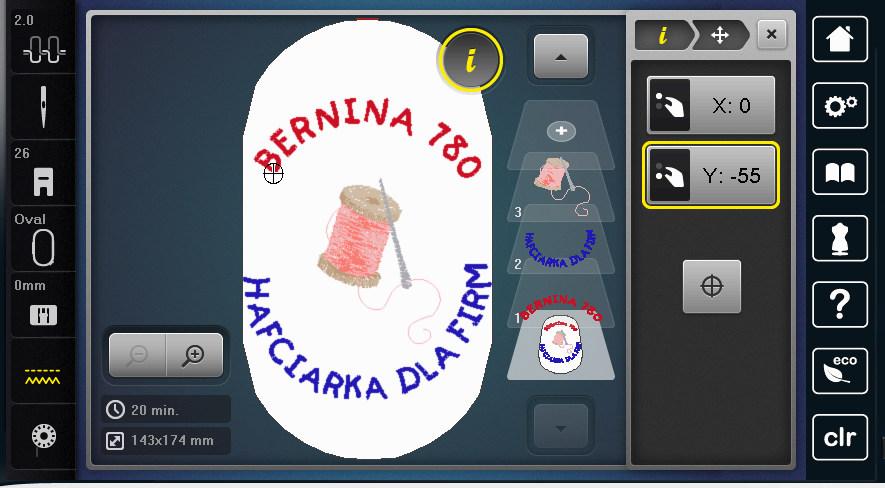 BERNINA 780 - Tworzenie napisów
