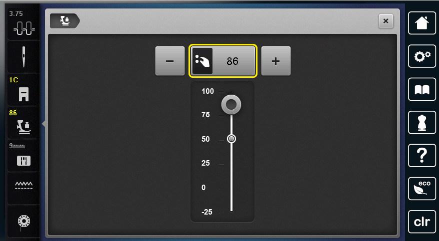 B780 - Sterowanie funkcjami szycia