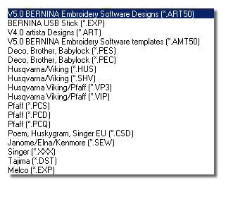 Formaty zapisu i odczyty w programie ART Design