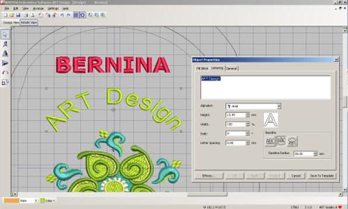 BERNINA ART Design - projektowanie napisów