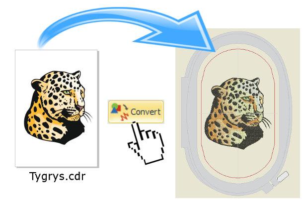 Bernina-Wilcom Designer Plus - Konwersja grafiki wektorowej na haft