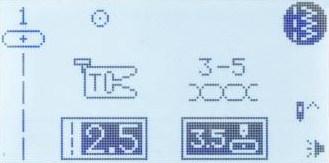 Maszyna do szycia BERNINA Chicago 7 Wyświetlacz LCD - szycie