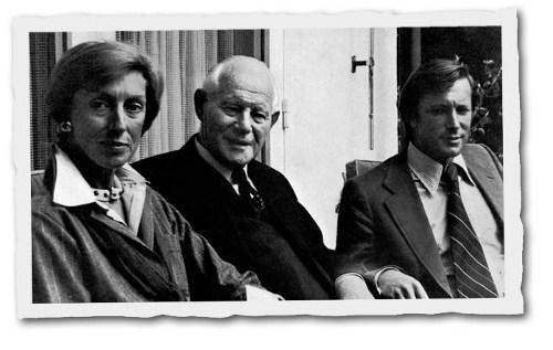 Od lewej: Odette Ueltschi-Gegauf, Fritz Gegauf, Hans Peter Ueltschi