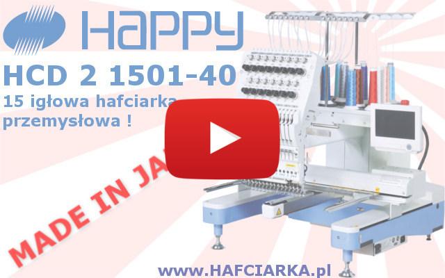 Przemysłowa hafciarka komputerowa 15-igłowa HAPPY HCD2 1501-40