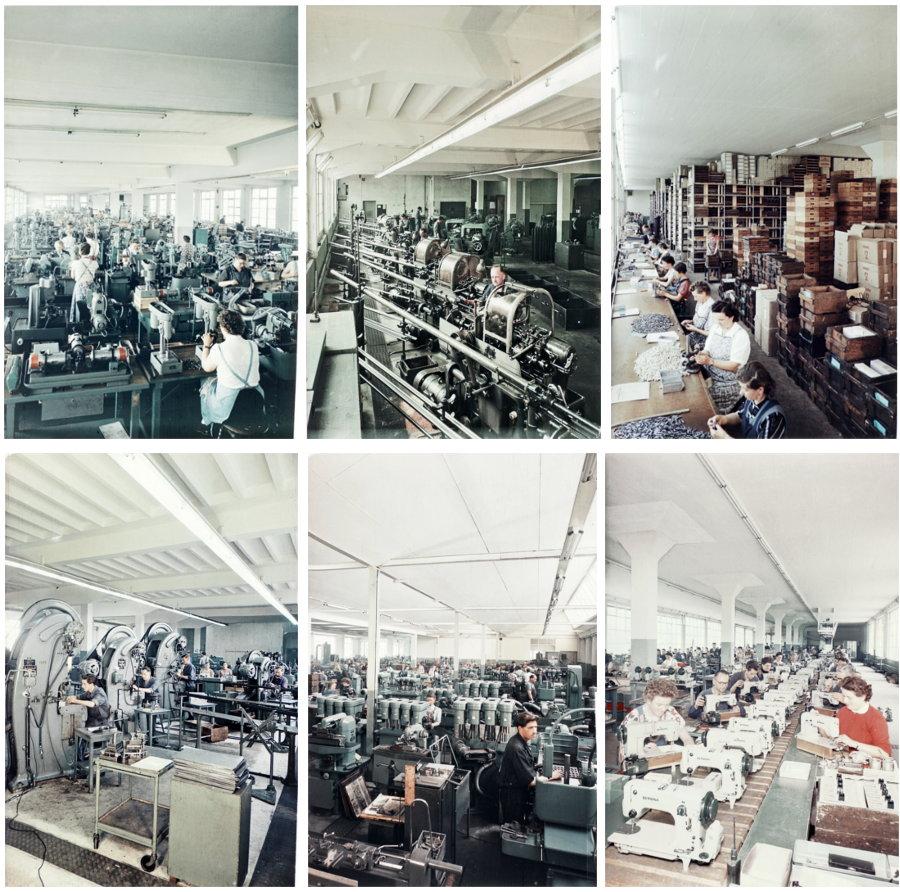 BERNINA - Historyczna linia produkcyjna