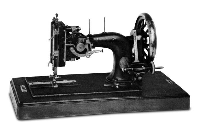 Maszyna do szycia ściegiem ZygZak z roku 1882 konstrukcji Johna Kaysera