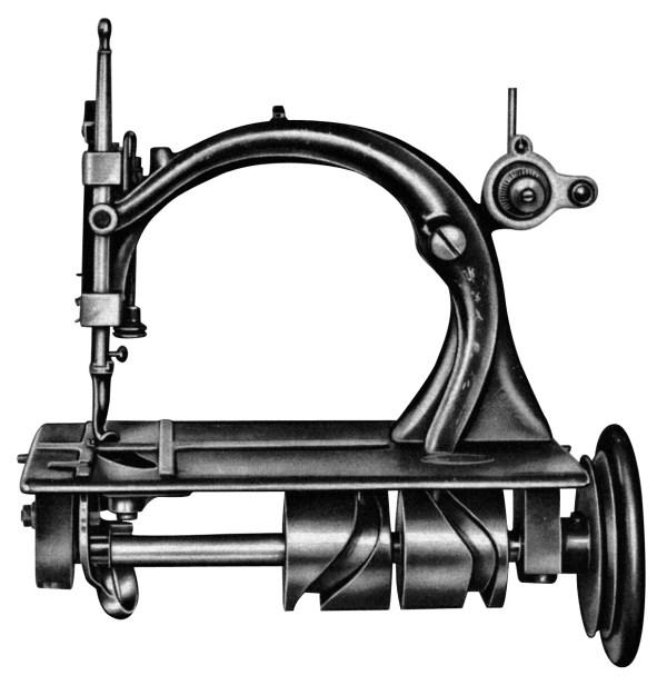 Maszyna do szycia z czółenkiem wahadłowym z roku 1870