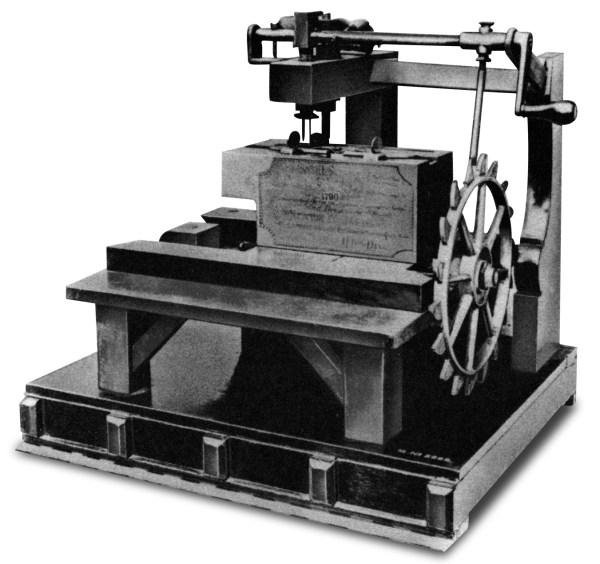 Maszyna do szycia wg pomysłu Thomasa Saint'a - 1790 rok