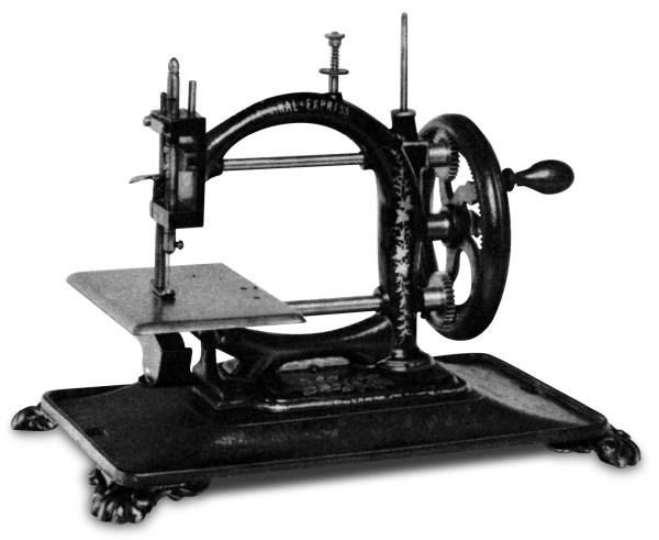 Maszyna do szycia z roku 1870 firmy Guhl & Harbeck z Hamburga