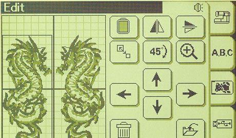 Ekran edycji haftu - BERNINA Deco 340 PL