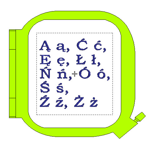 BERNINA Deco 340 PL - Polskie znaki alfabetu
