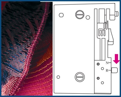 BERNINA bernette B48 Funlock - Coverlock 5-nitkowy - Piękna mereżka