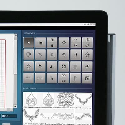 BERNINA Q-matic - Ekran sterujący