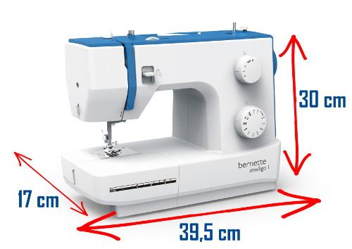 Wymiary maszyny do szycia BERNINA berentte Sew&Go 1