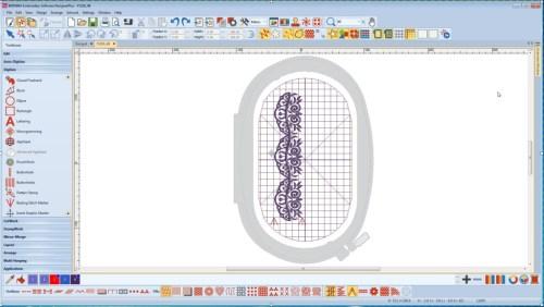 BERNINA-WILCOM Designer Plus - Pozycjonowanie haftu