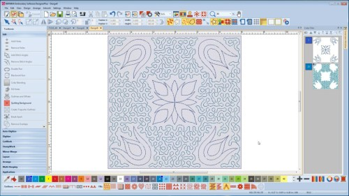 BERNINA-WILCOM Designer Plus - Pikowanie bloków