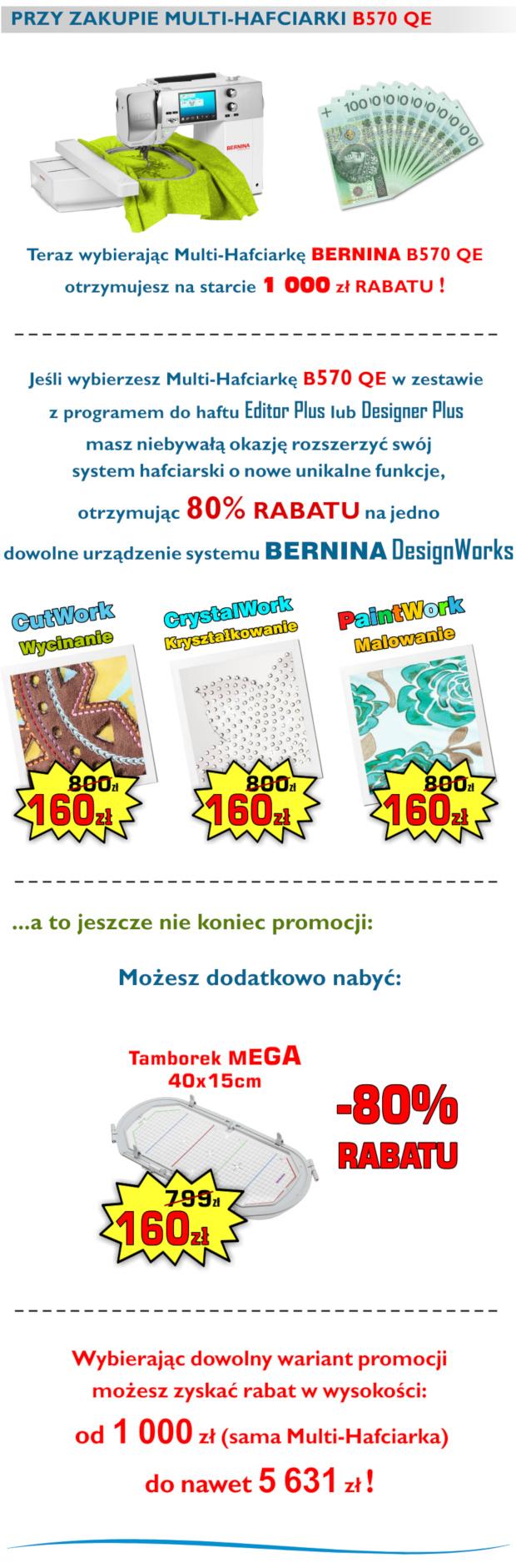 Promocje, super ceny, super rabaty i gratisy - hafciarki BERNINA