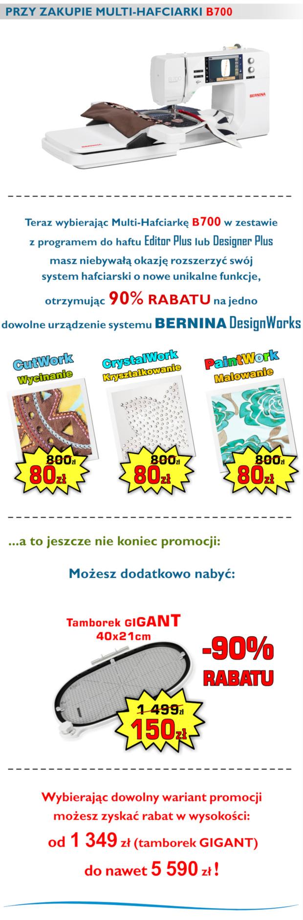 Promocje haficarek BERNINA - Mega Rabty, super gratisy, extra ceny
