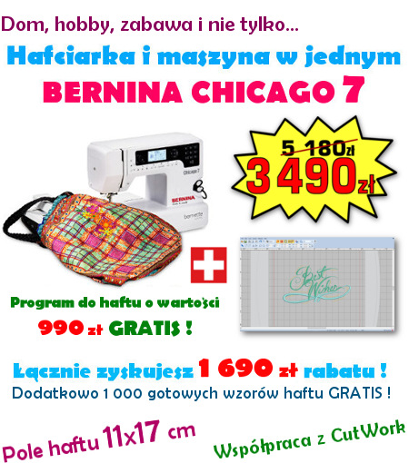 BERNINA bernette Chicago 7 - PROMOCJA !!
