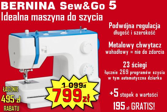 BERNINA Sew&Go 5 - IDEALNA Maszyna do szycia !