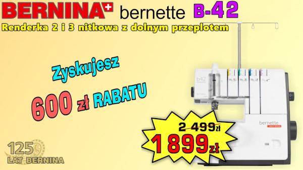 Promocja renderki BERNINA B-42