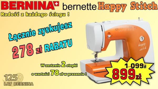 BERNINA Happy Stitch - Domowa maszyna do szycia - PROMOCJA