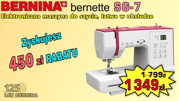 BERNINA SEWGO 7 - Elektroniczna maszyna do szycia
