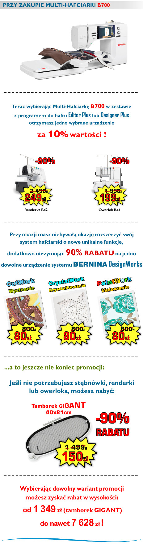 BERNINA B700 - Komputerowa hafciarka dla firm - MEGA PROMOCJA !