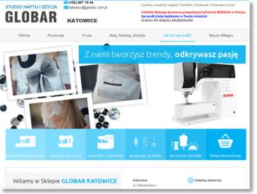 GLOBAR KATOWICE - Sklep w Katowicach. Maszyny do szycia, hafciarki, owerloki