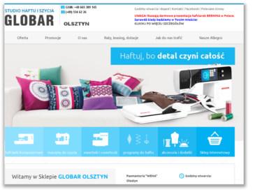 GLOBAR OLSZTYN - Sklep w Olsztynie. Maszyny do szycia, hafciarki, owerloki