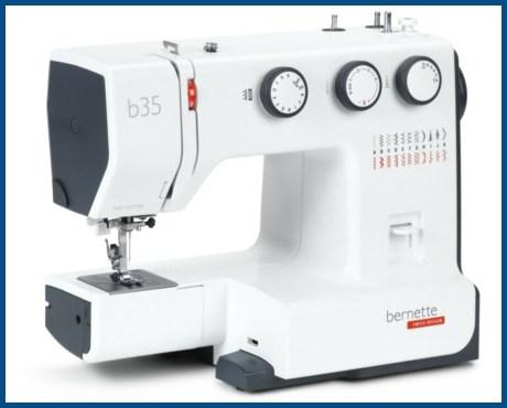 BERNINA bernette B35 - Mechaniczna maszyna do szycia dla początkujących - Wolne ramię