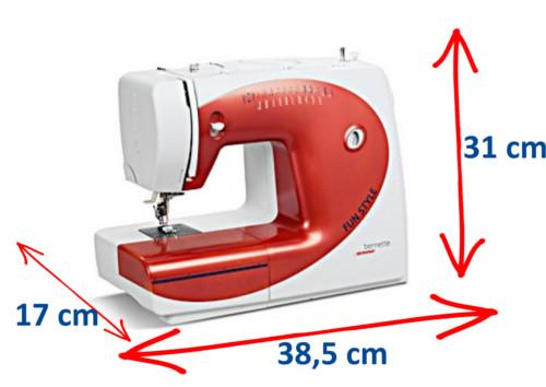 Wymiary maszyny do szycia BERNINA Fiun Style