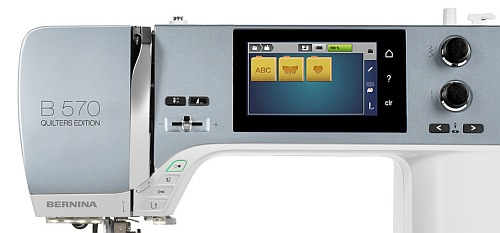 Multi-Hafciarka komputerowa BERNINA B570 QEE  - Ekran sterujący
