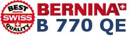 BERNINA 770 QE - Hafciarka dla firm