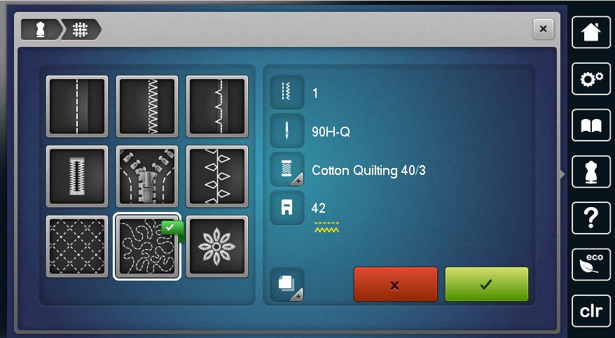 BERNINA 790 - Funkcja Konsultanta szycia