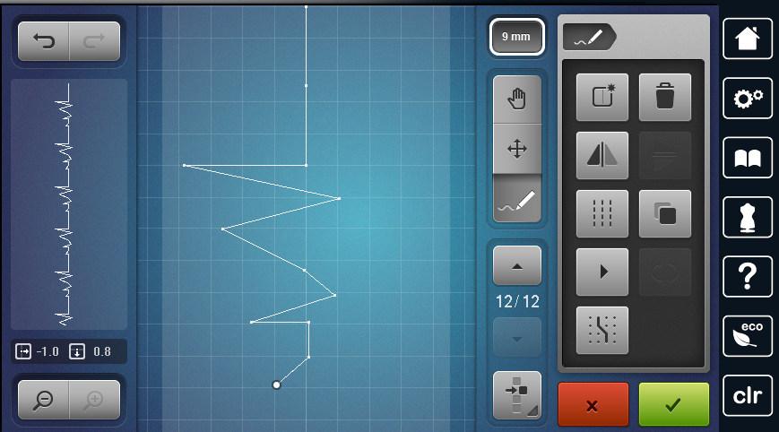 Projektowanie własnych wzorów ściegu w modelu B790