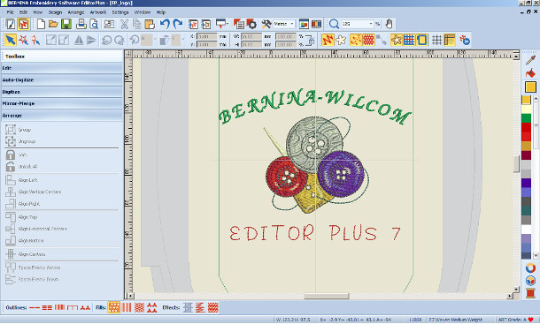 Bernina - Wilcom Editor Plus CDR