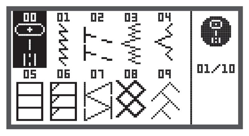 Wybór ściegów w modelu BERNINA Ccicago 7
