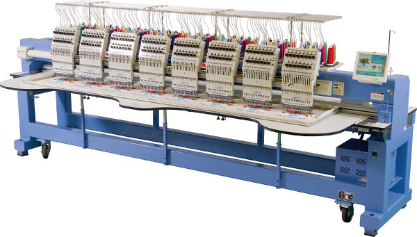 HAPPY HCR2 1508 - Przemysłowy automat hafciarki wyposażony w 8-głowic