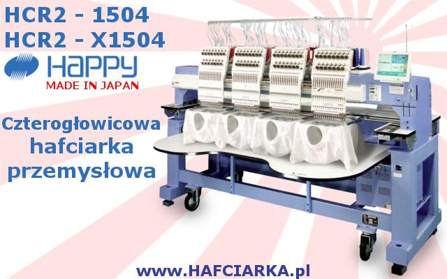 HAPPYH HCR2 1504 - Przemysłowa, Japońska hafciarka 4-głowicowa, 15-igłowa