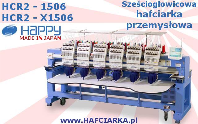 HAPPYH HCR2 1506 - Przemysłowa, Japońska hafciarka 6-głowicowa, 15-igłowa